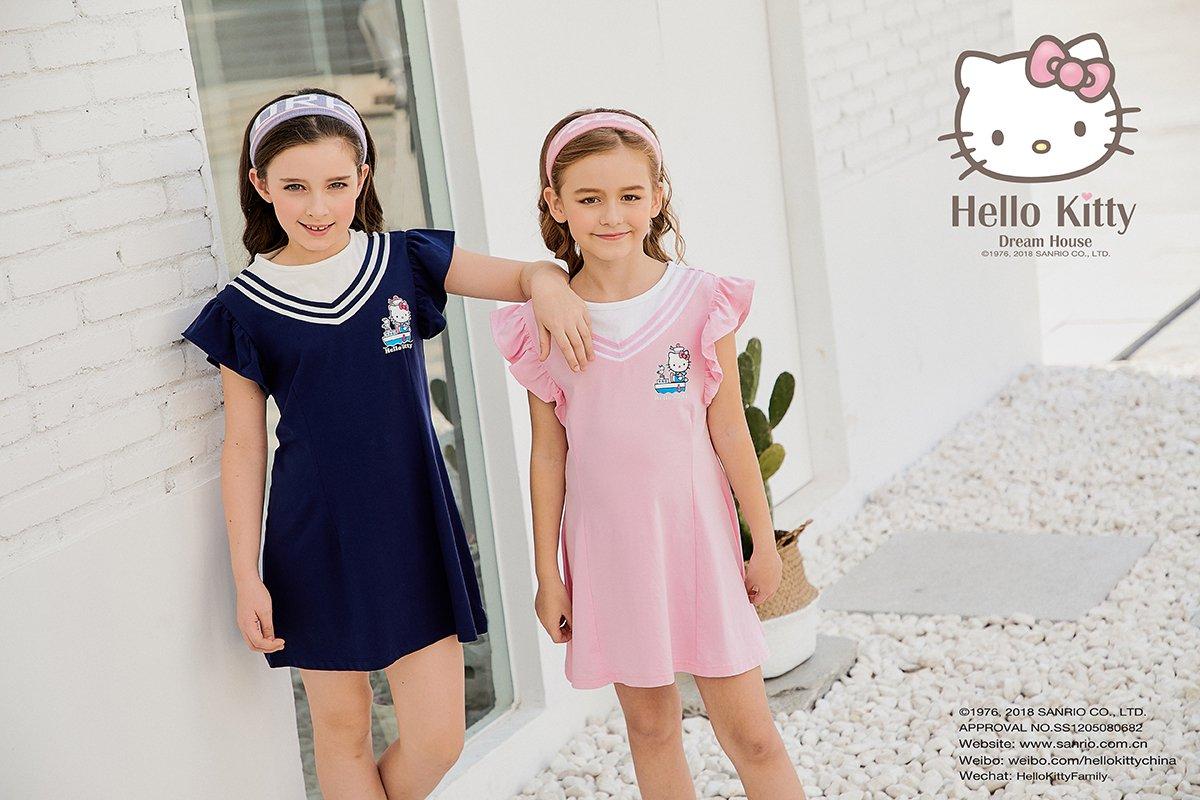 2018SS女童圆领荷叶袖连衣裙K282703